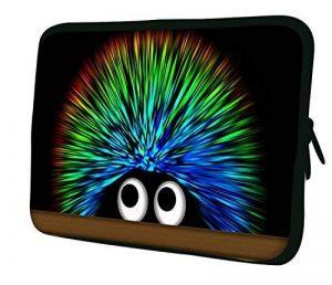 """Luxburg 17"""" pouces Housse Sacoche Pochette pour ordinateur portable/tablet - Hérisson Coloré de la marque Luxburg® image 0 produit"""