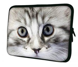 """Luxburg 17"""" pouces Housse Sacoche Pochette pour ordinateur portable/tablet - Yeux Pussycat de la marque Luxburg® image 0 produit"""