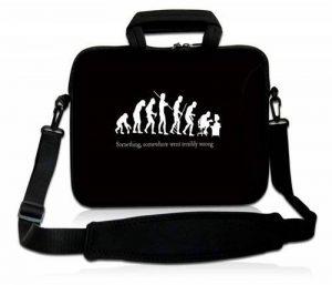 Luxburg® design housse sacoche pochette en néoprène avec bandoulière et pochette pour ordinateur portable 17,3 pouces, motif: Evolution de geek de la marque Luxburg® image 0 produit