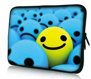 Luxburg® design housse sacoche pochette pour ordinateur portable 10,1 pouces, motif: Souriant de la marque Luxburg® image 0 produit