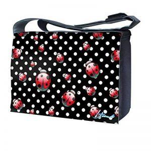 Luxburg Design sac bandoulière pour ordinateur portable 17Avec Sangle d'épaule–pois et coccinelles de la marque Luxburg® image 0 produit