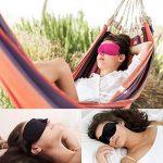 Masque de sommeil 3D, MAXIN masque de masque de soie naturelle (2 paquets) masque de sommeil pour les femmes, les hommes, les enfants bandeau superbe lisse pour le voyage, le travail de changement (noir et roseo) de la marque MAXIN image 4 produit