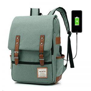 MCWTH Sac à Dos d'ordinateur Portable DE 15.6 Pouces avec Port USB de Charge, Sac à Dos Fonctionnel Knapsack Backpack pour Hommes/Femmes - Vert de la marque MCWTH image 0 produit