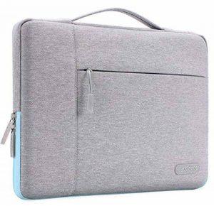 Mosiso 13-13.3 Pouces Housse MacBook Air 13, MacBook Pro Retina 13, Serviette Ordinateur Portable, Notebook, Sac à Main Polyester Tissu Multifonction, Gris et Bleu Chaud de la marque Mosiso image 0 produit