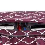 Mosiso 13-13,3 Pouces MacBook Air 13/12.9 iPad Pro/13,3 Pouces Ordinateur Portable Sacoche pour Ordinateur Portable/Macbook Pro Sac à Bandoulière Quatrefoil Style Toile Tissu, Vin Rouge de la marque Mosiso image 3 produit
