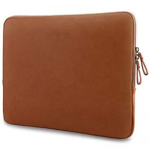 Mosiso 13-13,3 Pouces PU Housse MacBook Air 13/12.9 iPad Pro/13,3 Pouces Ordinateur Portable,Laptop Sleeve Premium Étanche Étui Cuir Sac pour MacBook Air/MacBook Pro/Surface Book/HP Elitebook, Marron de la marque Mosiso image 0 produit