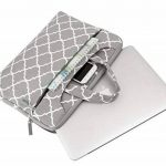 Mosiso 15-15,6 Pouces Housse Ordinateur Portable/MacBook Pro/MateBook Sacoche pour Ordinateur Portable Sac à Bandoulière Quatrefoil Style Toile Tissu, Gris de la marque Mosiso image 1 produit