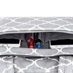 Mosiso 15-15,6 Pouces Housse Ordinateur Portable/MacBook Pro/MateBook Sacoche pour Ordinateur Portable Sac à Bandoulière Quatrefoil Style Toile Tissu, Gris de la marque Mosiso image 3 produit