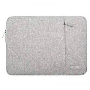 Mosiso Housse Pochette pour 11-11,6 Pouces MacBook Air, Ultrabook Netbook Tablet Polyester Vertical Style de l'eau Portable Repoussant Étui Sac Housse de Poche, Gris de la marque Mosiso image 0 produit