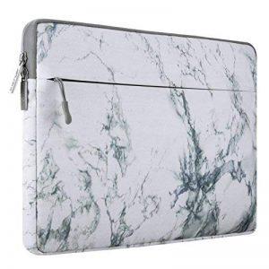 Mosiso Housse Pochette pour 13-13,3 Pouces MacBook Pro, MacBook Air, Ordinateur Portable, Canvas Toile Tissu Housse Étui pour Portable Couverture Sac, Motif de Marbre Blanc de la marque Mosiso image 0 produit