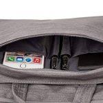 MOSISO Laptop Sac à Bandoulière pour 12,9 iPad Pro / 13-13.3 Pouces MacBook Pro, MacBook Air, Ordinateur Portable, Ultraportable de Protection en Denim Tissu de Transport Sac Porte-documents Housse Étui, Gris de la marque Mosiso image 3 produit