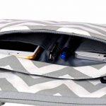 MOSISO Laptop Sac à Bandoulière pour 15-15.6 Pouces 2017 & 2016 Nouveau MacBook Pro Retina (A1707), MacBook Pro, Ordinateur Portable, Compatible avec Ultrabook de 14 Pouces, Chevron Style Ultraportable Protection Messenger Porte-documents Sac à Main Houss image 3 produit
