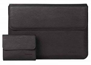 Mosiso Premium Housse étui en Cuir PU avec Fonction Stand pour 13-13,3 Pouces MacBook/Air / Pro Retina, 2017/2016 Macbook Pro avec/sans Touch Bar, Ordinateur Portable, Laptop avec Petite Manche, Noir de la marque Mosiso image 0 produit