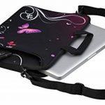 MySleeveDesign Sacoche en néoprène pour ordinateur portable avec bandoulière 15,6 pouces / 17,3 pouces - PLUSIEURS MODELES - Butterfly Light [17] de la marque MySleeveDesign image 2 produit