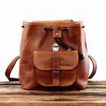 PAUL MARIUS petit sac à dos en cuir couleur Naturel style vintage LE BAROUDEUR de la marque Paul Marius image 2 produit