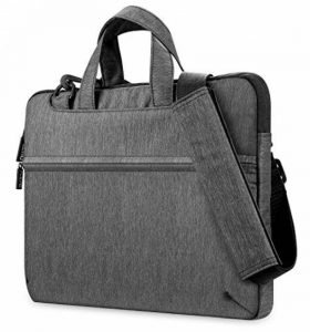 PLEMO Housse Sacoche LB-002 pour PC Ordinateur Portable 13 - 13.3 Pouces, Pochette Bandoulière avec Poignée Sac à Main pour MacBook Pro MacBook Air Notebook Ultrabook iPad Pro Samsung Sony HP, Gris de la marque Plemo image 0 produit