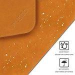 PLEMO Étui en cuir PU pour iPad Macbook Air/Macbook Pro/Macbook Pro pour ordinateur portable/notebook/Ultrabook/Chromebook–33–33,8cm–Marron. de la marque Plemo image 2 produit