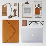 PLEMO Étui en cuir PU pour iPad Macbook Air/Macbook Pro/Macbook Pro pour ordinateur portable/notebook/Ultrabook/Chromebook–33–33,8cm–Marron. de la marque Plemo image 4 produit