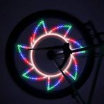 Portable Waterproof 32-LED Bicycle Bike Riding Spoke Lights Reflective Rim Light for MTB Wheel Tire Cycling Accessories de la marque Gwendoll image 2 produit
