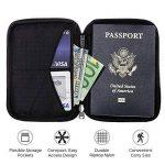 Porte-Passeport Zero Grid - Porte-Documents de Voyage avec Blindage RFID de la marque Zero Grid image 2 produit