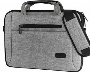 "ProCase 11 - 12 pouces Sacoche pour ordinateur portable Sac à bandoulière Messenger Porte-documents Sacoche pour 12 ""Macbook Surface Pro 4 3, 11 Ordinateur portable 12 pouces Ultrabook Tablet Ordinateur portable MacBook Chrome -Gris de la marque ProCase image 0 produit"