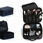 Pulchram Sac de Maquillage étanche Toilette de Voyage Pouch Make Up Organiseur avec Cloisons Amovibles Pochettes Cosmétique de Toilette Sacs pour Femme Homme de la marque Pulchram image 3 produit