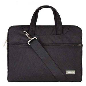 Qishare 10 11 11.6 Noir multifonctionnel portatif sac / sac à bandoulière / sac messager / ordinateur portable ordinateur sac à manches sac / sac à main pour ordinateur portable / tablette / macbook / ordinateur portable (11,6-12 pouces, Noir) de la marqu image 0 produit