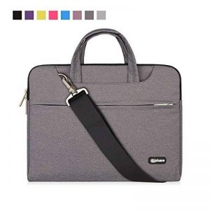 Qishare 11,6-12 pouces Gris multifonctionnel portatif mince ordinateur portable sac à bandoulière porte-documents ordinateur portable mallette de poche ultrabook netbook mallette de transport tablette / ordinateur portable / Chromebook / Macbook / Messeng image 0 produit
