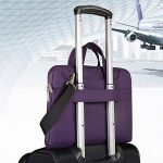 Qishare 11,6-12 pouces Violet multifonctionnel portatif mince ordinateur portable sac à bandoulière porte-documents ordinateur portable mallette de poche ultrabook netbook mallette de transport tablette / ordinateur portable / Chromebook / Macbook / Messe image 4 produit