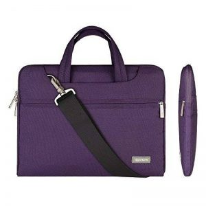 Qishare 11,6-12 pouces Violet multifonctionnel portatif mince ordinateur portable sac à bandoulière porte-documents ordinateur portable mallette de poche ultrabook netbook mallette de transport tablette / ordinateur portable / Chromebook / Macbook / Messe image 0 produit