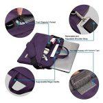 Qishare 13 13,3 14 pouces Violet multifonctionnel portatif sac / sac à bandoulière / sac messager / ordinateur portable ordinateur sac à manches sac / sac à main pour ordinateur portable / tablette / macbook / ordinateur portable (13,3-14 pouces, Violet) image 2 produit