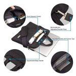 Qishare 13.3-14 pouces Noir multifonctionnel portatif sac / sac à bandoulière / sac messager / ordinateur portable ordinateur sac à manches sac / sac à main pour ordinateur portable / tablette / macbook / ordinateur portable (13.3-14 pouces, Noir) de la m image 2 produit