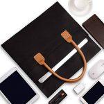 Qishare Compact et léger sac à main universel pour ordinateur portable (tissu Oxford portable, avec poignées poches latérales, Ultrabook tablette mallette), pour tous 13,3-14,1 pouces ordinateur portable, macbook, ordinateur portable(13,3-14 pouces, Noir) image 3 produit