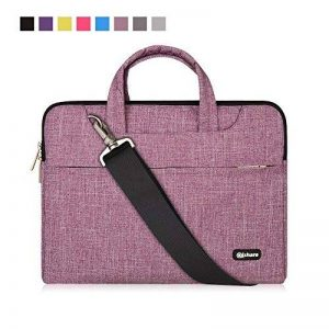Qishare multifonctionnel portatif mince ordinateur portable sac à bandoulière porte-documents ordinateur portable mallette de poche ultrabook netbook mallette de transport tablette / ordinateur portable / Chromebook / Macbook / Messenger cas avec poignée image 0 produit