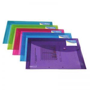 Rapesco Pochette Porte-documents Personnalisable Couleurs Vives Transparentes A4+ Lot de 5 de la marque Rapesco image 0 produit