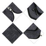 Ropch Housse pour Ordinateur Portable 17 17.3 Pouces Sacoche Pochette avec Poignée - Gris foncé de la marque Ropch image 3 produit