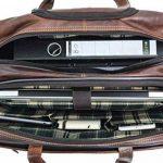 """Sac business à roulettes - Gusti Cuir studio """"Duncan"""" sac ordinateur portable 15"""" sac business vintage sac notebook rétro homme femme cuir de buffle marron foncé 2R21-20-2 de la marque Gusti image 2 produit"""