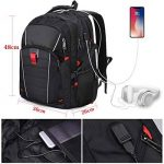 Sac à Dos 17.3 pouces Ordinateur Portable Imperméable Port de Charge USB Headphone Port Hommes Grande Capacité Laptop D'affaires Sac Noir de la marque NEWHEY image 2 produit