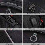 Sac à Dos 17.3 pouces Ordinateur Portable Imperméable Port de Charge USB Headphone Port Hommes Grande Capacité Laptop D'affaires Sac Noir de la marque NEWHEY image 4 produit