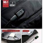 """Sac ¨¤ dos Antivol USB et Port de charge Antipluie Fashion en nylon Ordinateur portable/Tablette PC ¨¤ 13""""-15"""" de la marque KINGSONS image 2 produit"""