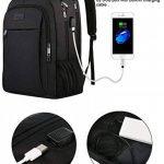 Sac à dos d'affaires pour ordinateur portable, sac à dos de voyage de chargement USB pour les femmes et les hommes, s'adapte à 15,6 pouces ordinateur portable et ordinateur portable-noir de la marque Matein image 2 produit