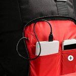Sac à dos d'ordinateur portable, paquet d'affaires d'ordinateur portable des hommes des femmes avec le câble d'USB et le connecteur jusqu'à 15. Sac à dos à la mode en nylon de 6 pouces pour l'école de travail dehors de la marque JYMDH image 1 produit