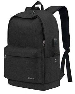 Sac à dos d'université d'université, sac à dos de voyage d'étudiant grand pour des filles de garçons, sacs à dos Compuetr d'école secondaire avec le port de remplissage d'USB externe pour des femmes d'hommes, sac imperméable à l'eau de livre de Convas ave image 0 produit