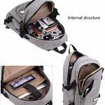 Sac à dos de luxe étanche sac à dos pour ordinateur portable unisexe externe USB charge sac à dos ordinateur portable sac à dos de la marque HOOEYNST image 1 produit