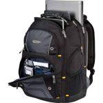 """Sac à dos Drifter 32 litres Targus TSB238EU Idéal pour les professionnels, étudiants et gamers, adapté à la plupart des ordinateurs portables, jusqu'à 15.6"""" – Noir/Gris de la marque Targus image 4 produit"""