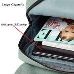 Sac à Dos Ordinateur Portable 15.6/14 Pouces Homme/Femmes, FEWOFJ Sac a Dos PC Portable pour Loisirs/Affaire/Scolaire (Vert) de la marque FEWOFJ image 3 produit