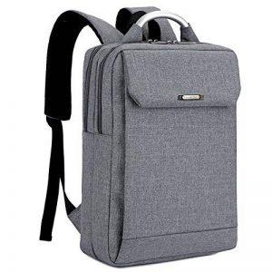 """Sac à dos PC Imperméable pour Femme et Homme Business Travail Backpack pour ordinateur/Laptop 14-15"""", Gris de la marque WZTP image 0 produit"""