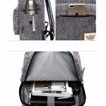 Sac à dos pour ordinateur portable 17 pouces pour 15,6 '' 16 '' ordinateur portable sac à dos étanche pour hommes et femmes (rose) de la marque Aumaric image 2 produit