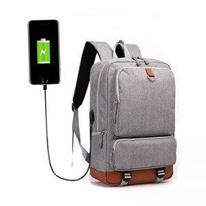 sac à dos pour ordinateur portable avec port USB 15.6-17 Pouces Mofek sac à dos décontracté pour l'école ou les voyages (gris) de la marque Mofek image 0 produit