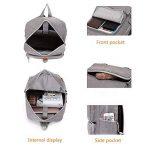 sac à dos pour ordinateur portable avec port USB 15.6-17 Pouces Mofek sac à dos décontracté pour l'école ou les voyages (gris) de la marque Mofek image 2 produit